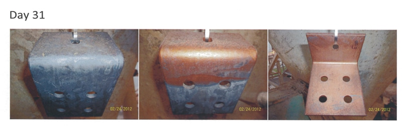 unpainted metal corrosion protection
